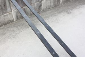 黒皮鉄、ミツロウ塗装
